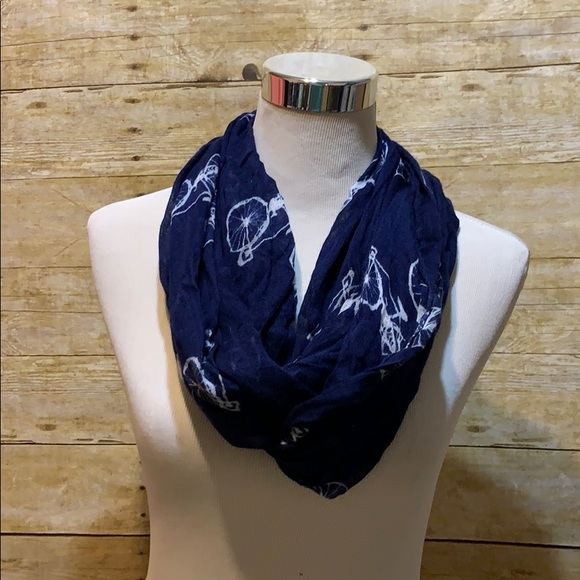 Accessories - Navy blue bicycle infinity scarf